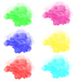 Abstract various watercolor Royalty Free Stock Image