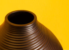 Abstract vase. A close-up and abstract photo of a brown vase Royalty Free Stock Photos