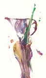 Abstract vase. Abstract drawing / painting resembling a vase royalty free illustration