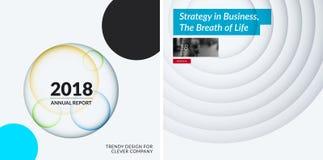 Abstract vastgesteld ontwerp van kleurrijke vectorelementen voor moderne achtergrond met cirkelsschaduwen voor het bedrijfs brand royalty-vrije illustratie