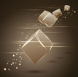 Abstract vector 3d cubes. The abstract vector 3d cubes royalty free illustration
