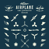 Abstract Vector Airplane Labels or Logos Stock Photo