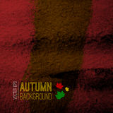 Abstract vector autumn grunge background. Creative Stock Image