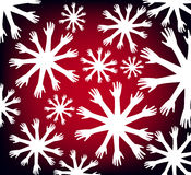 Abstract vector background. Abstract background with hand snowflakes Stock Image