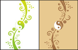 Abstract vector background. Two yin yang background,grunge and abstract Stock Photography