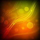 Abstract Vector Background. Transparent Lights on Colorful Wave. EPS10 Royalty Free Stock Images