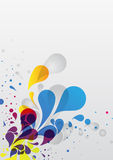 Abstract vector background. Abstract colored background of water drops vector illustration