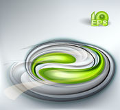 Abstract vector background. With green swirl Stock Photos