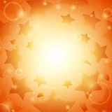 Abstract vector background. Business background. Stars background. Music background. Party background. Bright background. Orange background. Glowing background Royalty Free Stock Photo