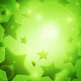 Abstract vector background. Business background. Stars background. Music background. Party background. Bright background. Green background. Glowing background Stock Photos