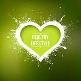 Abstract vector background. With grunge heart. Healthy lifestyle illustration Stock Photography