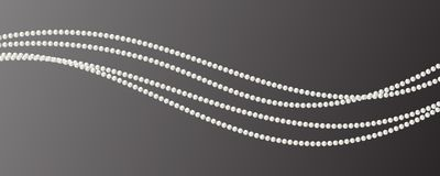 Abstract vector background with beautiful 3D shiny natural white. Pearl garlands of beads. Set for celebratory design, Christmas decorations. wedding theme Royalty Free Stock Photography