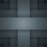 Abstract vector background with black paper layers Stock Photography
