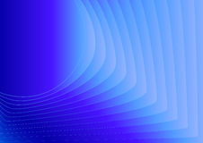 Abstract vector background with blue blended lines. From circle to square Royalty Free Stock Photo