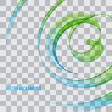 Abstract vector background, blue and green waved lines for brochure, website, flyer design. Transparent wave Stock Illustration