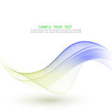 Abstract vector background, blue and green waved lines . Transparent smooth wave. Royalty Free Stock Images