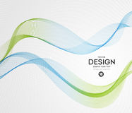 Abstract vector background, blue green wavy Royalty Free Stock Photos