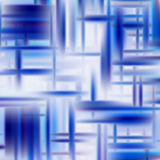 Abstract vector background of blue intersecting stripes Stock Photography