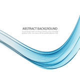 Abstract vector background Blue smoke wave. Blue wavy background. Stock Images