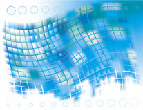Abstract vector background  of blue squares Stock Image
