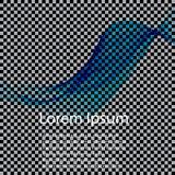 Abstract vector background, blue transparent waved lines for brochure, website, flyer design. Blue smoke wave. Blue wavy background Vector Illustration