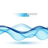 Abstract vector background, blue transparent waved lines for brochure, website, flyer design. Blue smoke wave. Abstract vector background, blue transparent Royalty Free Illustration