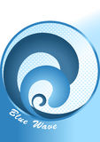 Abstract vector background-blue wave Stock Photos