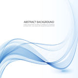 Abstract vector background, blue waved lines for brochure, website, flyer design. Stock Photography