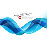 Abstract vector background, blue wavy. Abstract vector background, blue waved lines for brochure, website, flyer design. illustration eps10 vector illustration