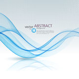 Abstract vector background, blue wavy Royalty Free Stock Photos