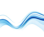 Abstract vector background, blue wavy Stock Image