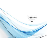 Abstract vector background, blue wavy Stock Photography