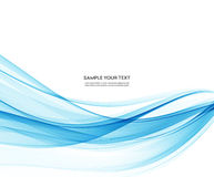 Abstract vector background, blue wavy Stock Photo