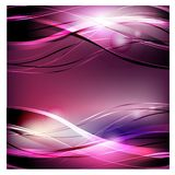 Abstract vector background. Bright curved waves for advertising. Glowing lines vector illustration