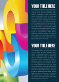 Abstract vector background for brochure or poster Royalty Free Stock Photo