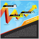 Abstract vector background with business arrow Stock Photo
