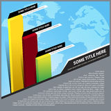 Abstract vector background with business graph Royalty Free Stock Photo