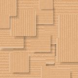 Abstract vector background of cardboard squares. Abstract background of cardboard squares. Vector art design Stock Photo