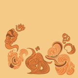 Abstract vector background with chaotic ornament Stock Images