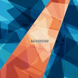 Abstract vector background of chaotic shapes eps Royalty Free Stock Photos