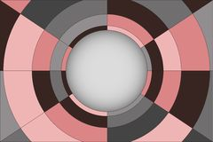 Abstract vector background with circle composition Royalty Free Stock Photo