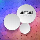Abstract vector background with circles. Background with connect. Ed dots and lines. Design element in vector Stock Photography