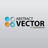 Abstract vector background with circles Stock Photography