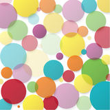 Abstract vector background with color circles Stock Photography