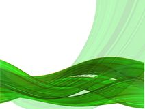 Abstract vector background with color waves Stock Photography