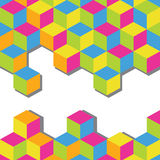 Abstract vector background. Colorful cubes mosaic Royalty Free Stock Photos