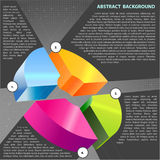 Abstract vector background with cross graph Royalty Free Stock Photos