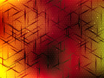 Abstract vector background with curves and hexagons Royalty Free Stock Image