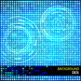 Abstract vector background for data theme. S. s. Light cyber HUDs, arrows, binary code on squared background. Elements for data control and protection design Royalty Free Stock Images