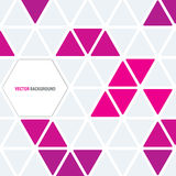 Abstract Vector Background. An abstract design with random pink triangles Stock Images